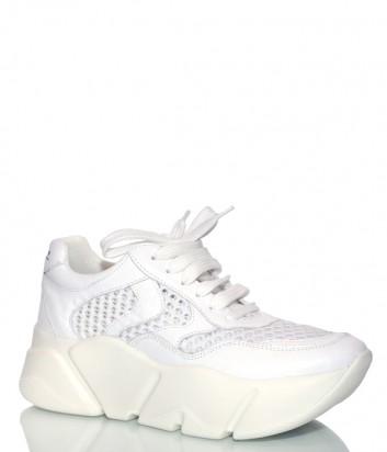 Кожаные кроссовки Voile Blanche 2013592 на платформе белые
