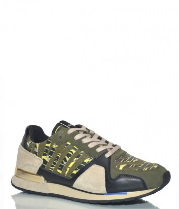 Мужские кроссовки Roberto Cavalli Butilon цвета хаки