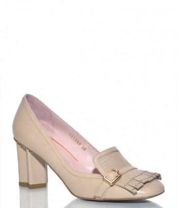 Кожаные туфли Giorgio Fabiani 191088 бежевые