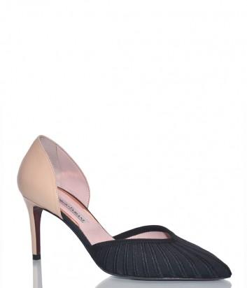Кожаные туфли Giorgio Fabiani 191047 черно-бежевые