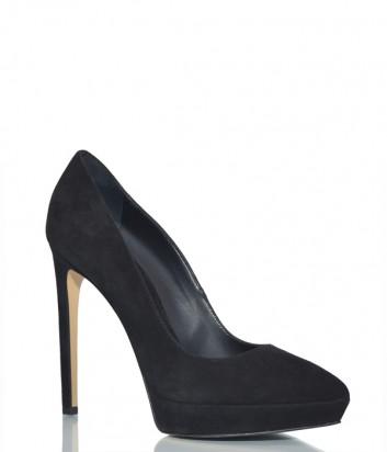 Замшевые туфли Ninalilou 282521 черные