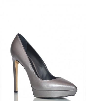 Кожаные туфли Ninalilou 282521 серебристые