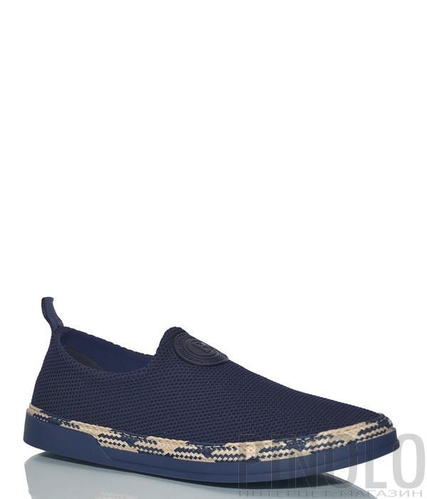 d7539ec1c Мужские туфли Baldinini 997445 с перфорацией синие - купить в ...