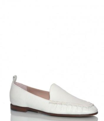 Кожаные туфли-лоферы Roberto Festa Marble белые