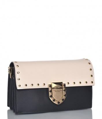 Двухцветная сумка через плечо Tosca Blu 197B271 в гладкой коже