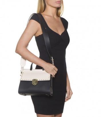Двухцветная сумка Tosca Blu 197B270 в гладкой коже
