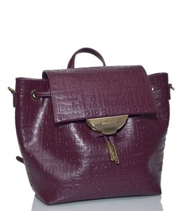 4058e57ce Бордовая сумка-рюкзак Baldinini 340042 в коже с тиснением ...