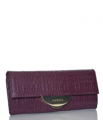 Кожаная сумка-клатч Baldinini 348103 со съемным плечевым ремнем бордовая