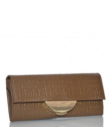 Кожаная сумка-клатч Baldinini 348103 со съемным плечевым ремнем рыжая
