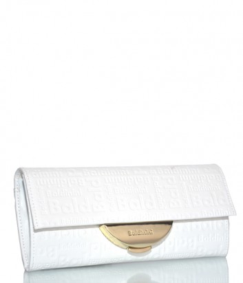 Кожаная сумка-клатч Baldinini 348103 со съемным плечевым ремнем белая