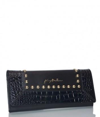 Черная сумка-клатч Baldinini 260012 в коже с тиснением под крокодила