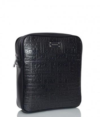 Мужская сумка Baldinini 900022 в коже с тиснением черная