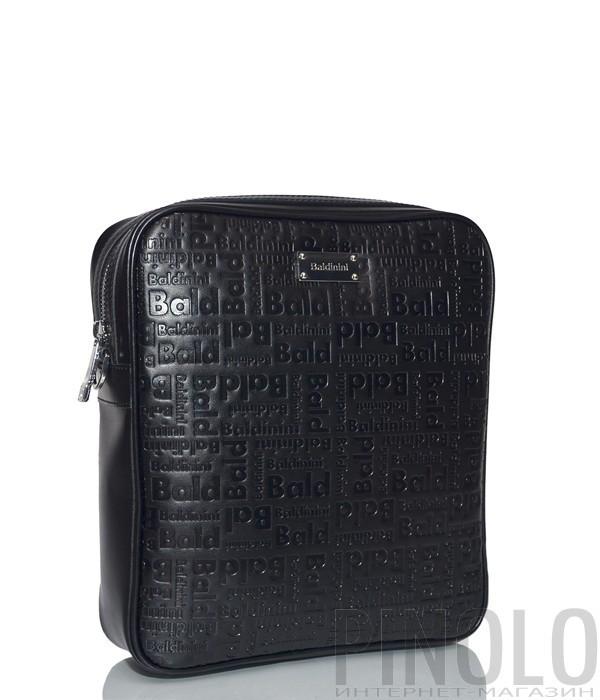 86e73e26d Мужская сумка Baldinini 900022 в коже с тиснением черная - купить в ...
