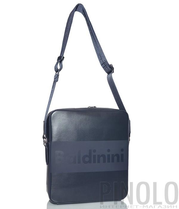 dc7a66c19 Мужская сумка Baldinini 920022 в гладкой коже с надписью бренда синяя