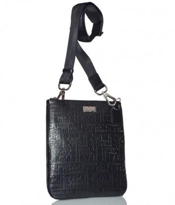 Мужская сумка Baldinini 900012 в коже с тиснением черная