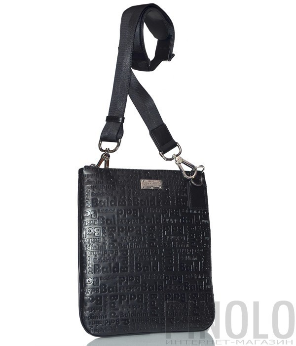 f8d616b355f1 Мужская сумка Baldinini 900012 в коже с тиснением черная - купить в ...