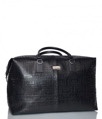 Дорожная сумка Baldinini 900052 в коже с тиснением черная