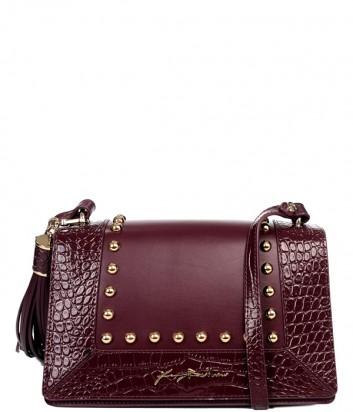 Бордовая сумка Baldinini 260032 в коже с тиснением под крокодила