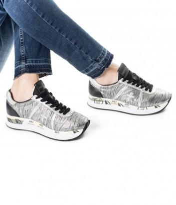 Кожаные кроссовки Premiata Conny 2972 серебристые
