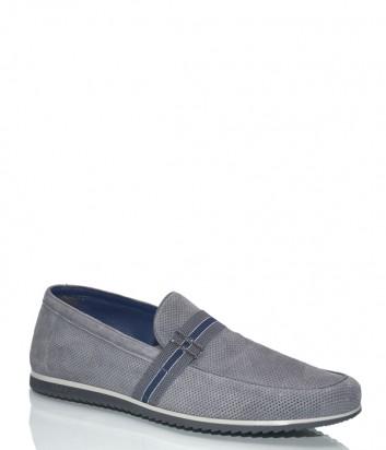 Мужские замшевые туфли Fabi 8484 серые