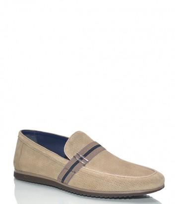 Мужские замшевые туфли Fabi 8484 бежевые