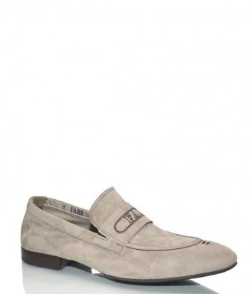 Мужские туфли Fabi 5493 в бежевой замше