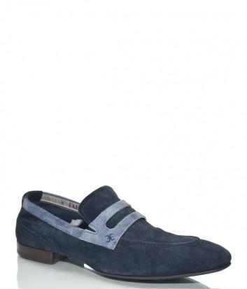 Мужские туфли Fabi 5492 в синей замше