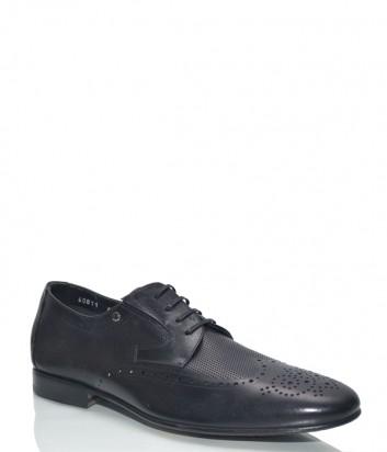 Мужские туфли Mario Bruni 60811 в коже с перфорацией черные