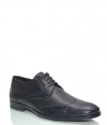 Кожаные туфли Mario Bruni 58672 с перфорацией черные