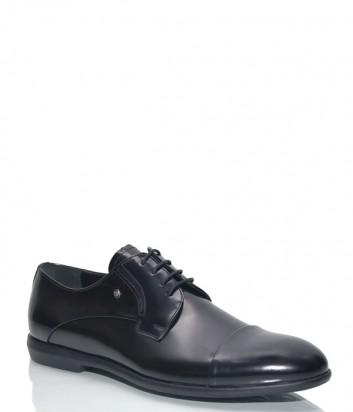 Мужские туфли Roberto Serpentini 45200 в гладкой коже черные