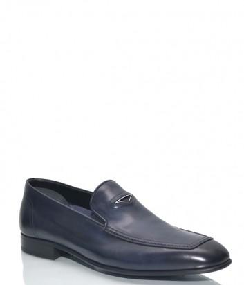 Мужские туфли Roberto Serpentini 48210 в гладкой коже синие