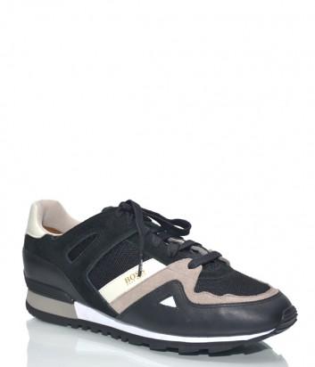 Кожаные кроссовки Hugo Boss 50384349 черные