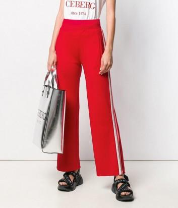 Красные спортивные брюки ICEBERG 316312 с боковыми вставками