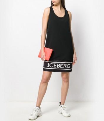 Черное платье ICEBERG 1725267 с логотипом