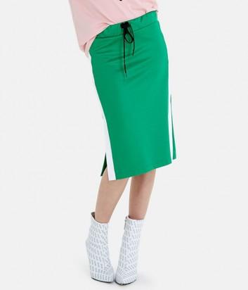 Зеленая юбка ICE PLAY C071P453 с логотипом