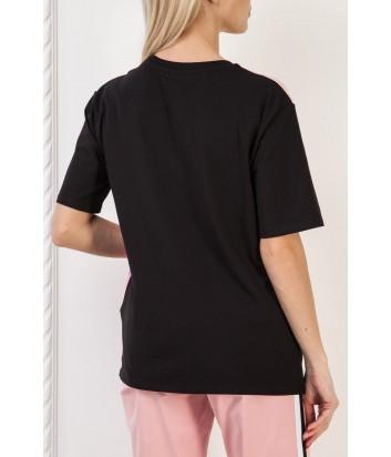 Розовая футболка ICE PLAY F084P435 с принтом и логотипом