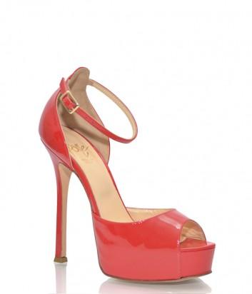 Красные лаковые босоножки Icone 4171 на высоком каблуке