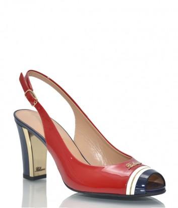 Лаковые босоножки Marino Fabiani 1013 красно-синие