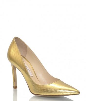 Туфли-лодочки Roberto Festa 10000 в золотой коже с тиснением
