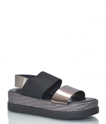 Кожаные сандалии Nr Rapisardi Giulia на танкетке