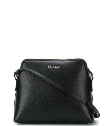 Набор матрешка Furla Boheme 1006704 черная сумка и две цветные косметички