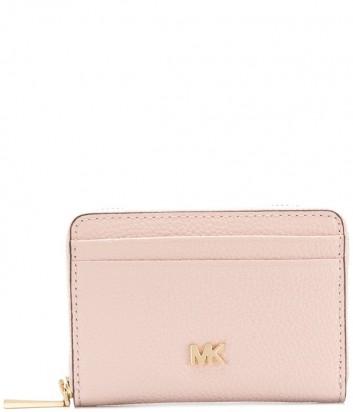 Женский кошелек Michael Kors 32T8GF6Z1L розовый с золотой фурнитурой