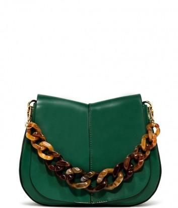 Кожаная сумка Gianni Chiarini 6766 на два отделения зеленая