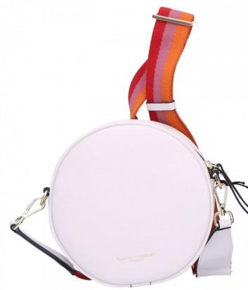 Кожаная сумка Gianni Chiarini 6635 круглой формы белая