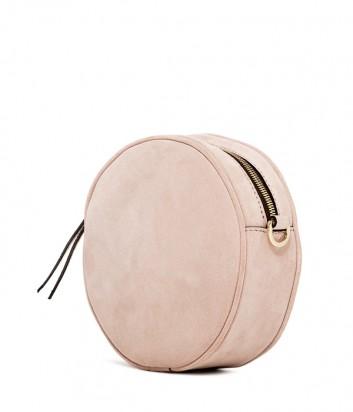 Замшевая сумка Gianni Chiarini 6635 круглой формы пудровая