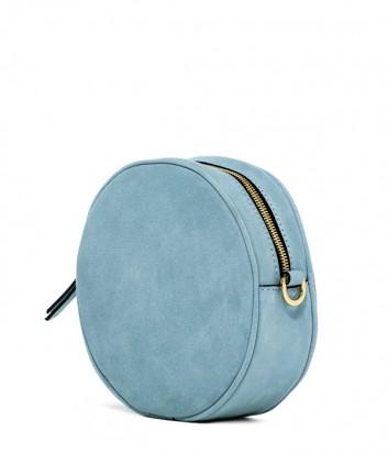 Замшевая сумка Gianni Chiarini 6635 круглой формы голубая