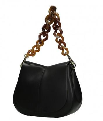 Кожаная сумка Gianni Chiarini 6765 на два отделения черная