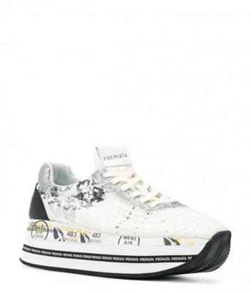 Кожаные кроссовки Premiata Beth 3842 с пайетками