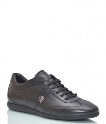 Кожаные кроссовки Roberto Cavalli 660 черные