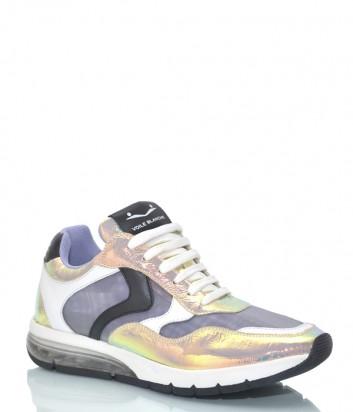 Кожаные кроссовки Voile Blanche 3498 лиловые